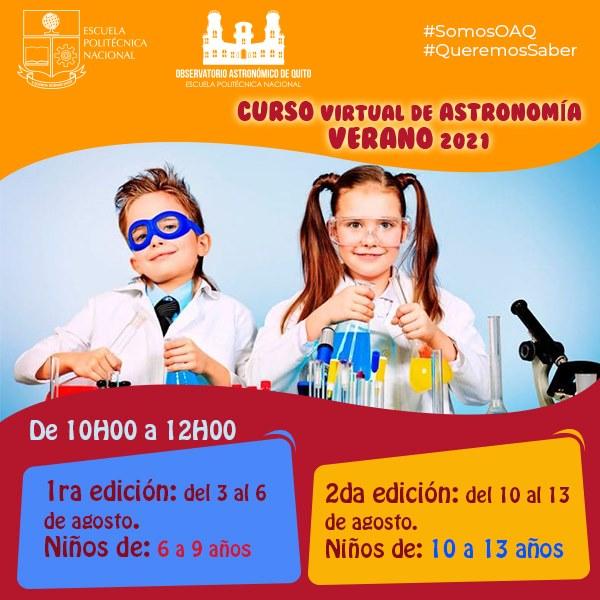Curso virtual de astronomía - Verano 2021-2