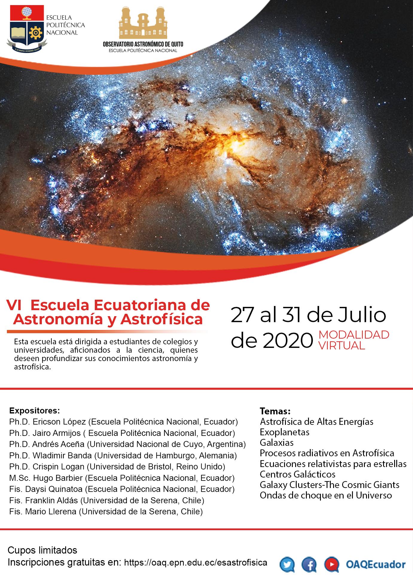 VI Escuela Ecuatoriana de Astronomía y Astrofísica